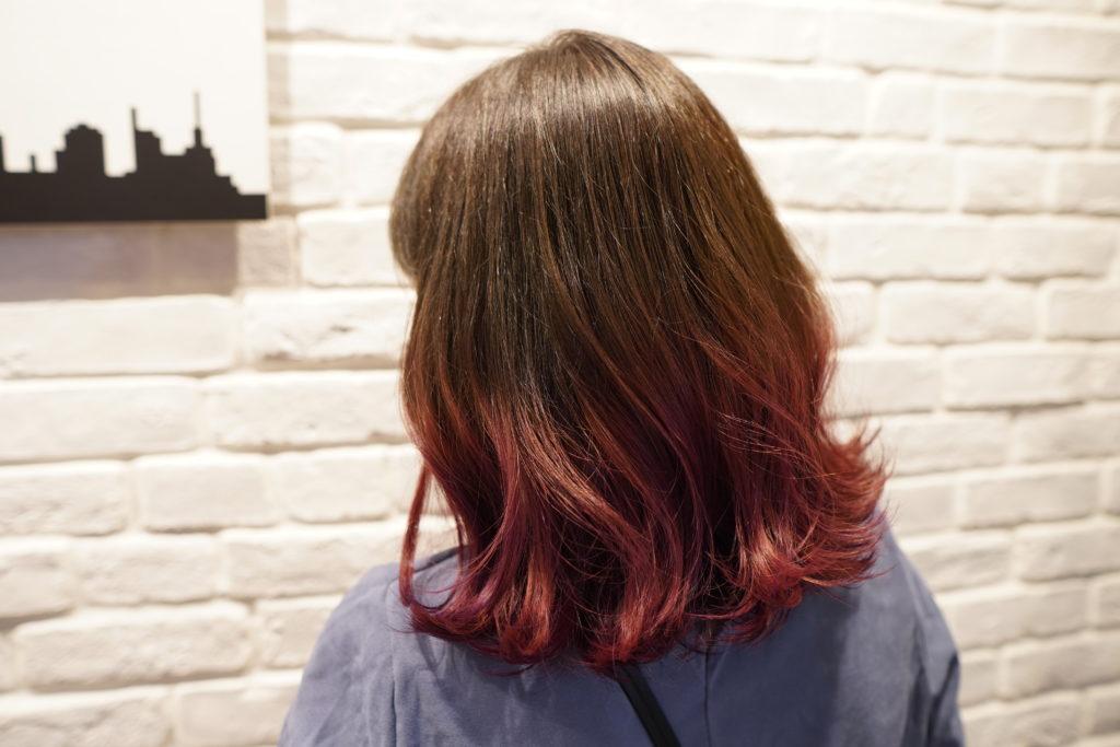 神戸 三宮 ブリーチ グラデーションカラー
