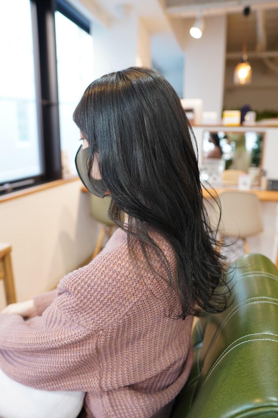 神戸美容室 三宮美容室 アディクシーカラー オリーブカラー