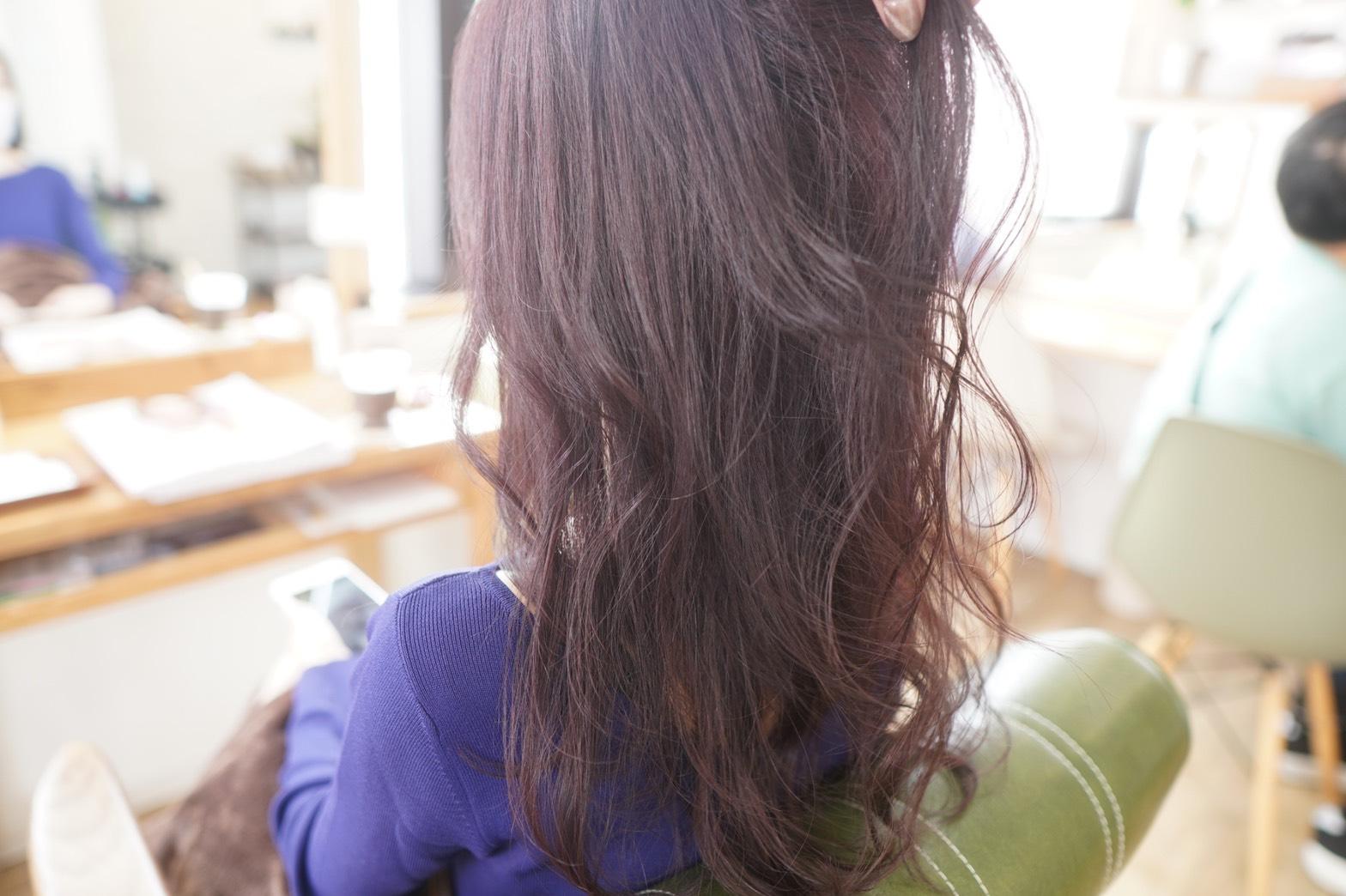 神戸 三宮 髪質改善 水素トリートメント ダブルカラー ピンクカラー ピンクダブルカラー ブリーチなしカラー