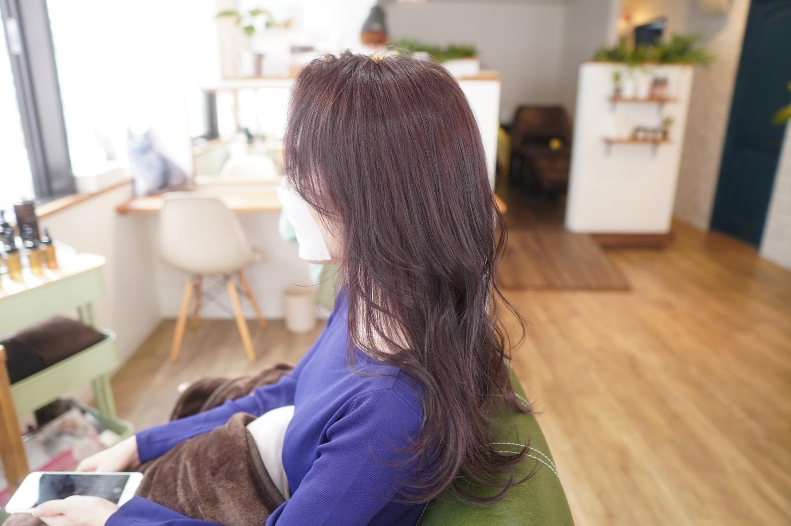 神戸 三宮 髪質改善 水素トリートメント ブリーチなしカラー ダブルカラー ピンクカラー ピンクダブルカラー