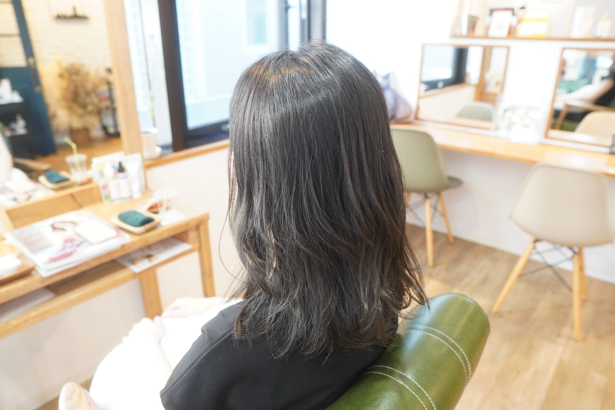 三宮 神戸 アディクシーカラー アディクシー 暗髪 黒髪